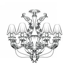 Exquisite fabulous imperial baroque chandelier vector