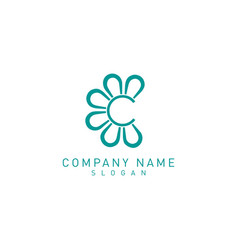 flower c logo vector image
