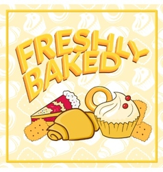 Fresh baked vector image vector image
