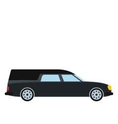 Hearse car icon vector
