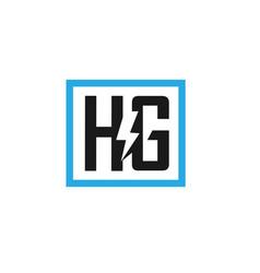 Hg letter electric design vector