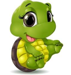 little turtle vector image vector image