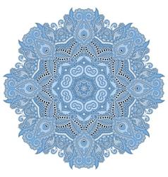 Mandala blue colour circle decorative spiritual vector
