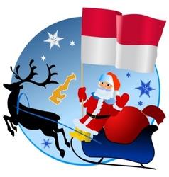 Merry Christmas Monaco vector image