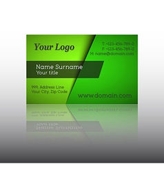 Modern green business card vector