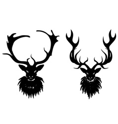 Mysterious stag vector