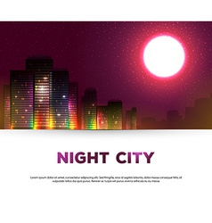 Night urban city background vector image