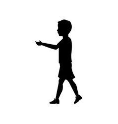 Pictogram boy kid male walking vector