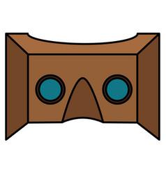 Reality virtual mask technology vector