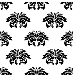 Repeat seamless pattern of arabesques vector image