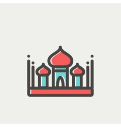 Saint basil cathedral thin line icon vector image