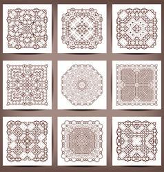 Set of elegant floral monogram design templates vector