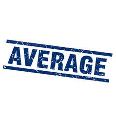 Square grunge blue average stamp vector