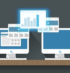 Transfer information concept Flat design vector image