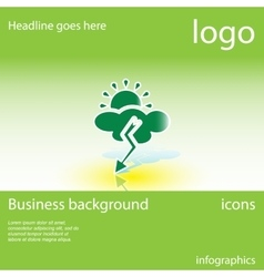 Weather business background vector