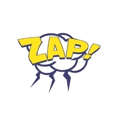 Zap with lightnings comic speech bubble vector