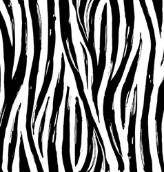 Zebra print background pattern Black and white vector image vector image