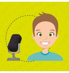 Man microphone audio speak vector