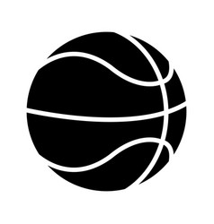 basketball ball play pictogram vector image