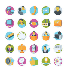 Network and communication icons 1 vector