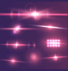 Lens flare effect set vector