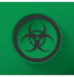 Sign biological hazard vector