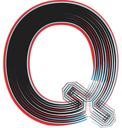 Abstract font letter q vector