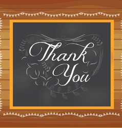 Thank you written on chalkboard vector