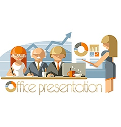 Office presentation vector