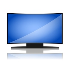 Curved tv vector