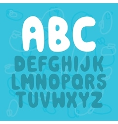 Nice letters font set vector