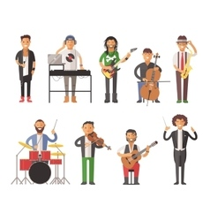 Musicians people flat vector
