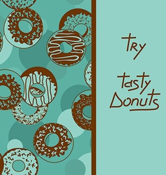 Background with tasty donuts vector