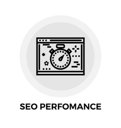 Seo performance line icon vector