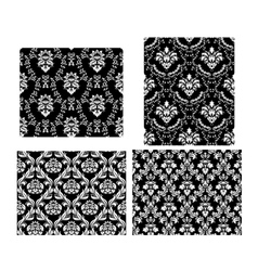 Damask set vector