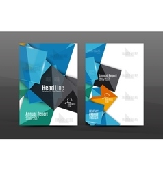 Annual report cover vector