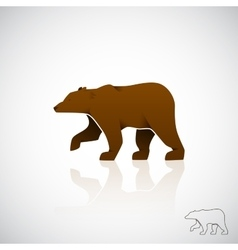 Abstract logo brown bear vector image vector image