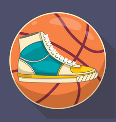 basketball sneakers graphic vector image