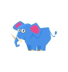 Blue Elephant Toy Exotic Animal Drawing vector image vector image