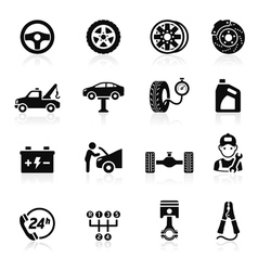 Car service maintenance icon vector image vector image
