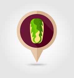 Chinese cabbage flat pin map icon vegetable vector