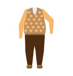 Clothing for seniors design vector
