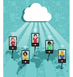 Cloud computing phone communication vector