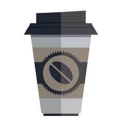 Coffee container vector