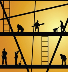 Construction worker at work vector