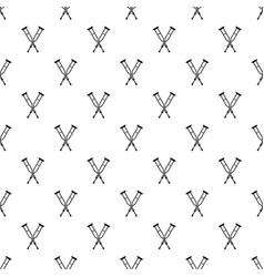 Crutches pattern vector