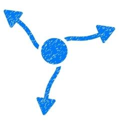 Curve arrows grainy texture icon vector