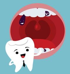 Dental mascot character vector image