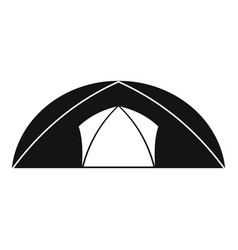Dome tent for camping icon simple style vector