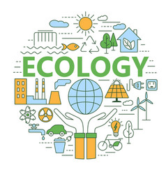 ecology and environment concept vector image vector image